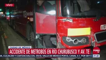 Choca Metrobús Río Churubusco Cdmx Accidentes de Metrobús