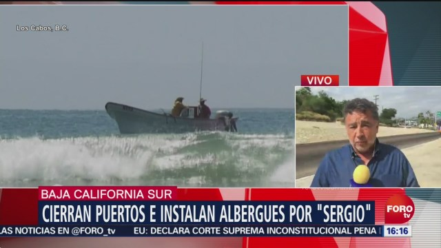 Cierran puertos e instalan albergues por Sergio