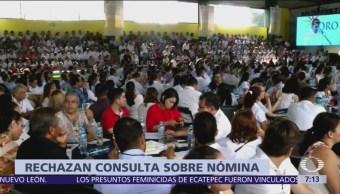 CNTE rechaza consulta sobre nómina