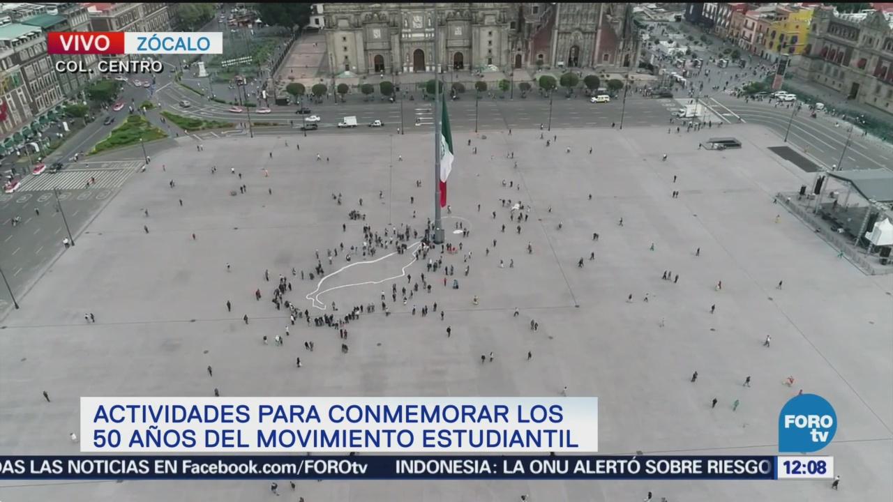 Colectivo realiza memorial con motivo del movimiento del 68