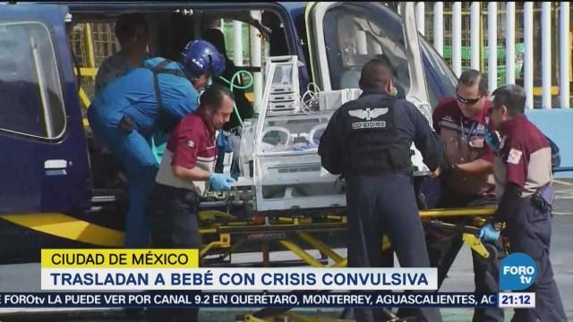Cóndores Trasladan Bebé Crisis Convulsiva CDMX