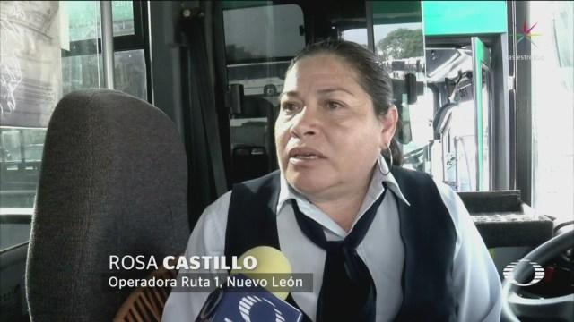 Conductora Transporte Público Salva Vida Pasajera NL