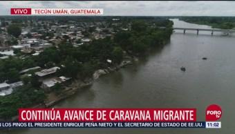 Continúa Avance Caravana Migrante Guatemala