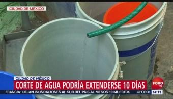 Corte de agua podría afectar 10 días a la CDMX