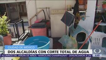 Corte total de agua solo aplicará en 2 alcaldías CDMX