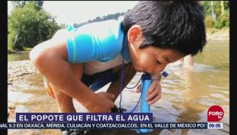 Crean popote que filtra el agua