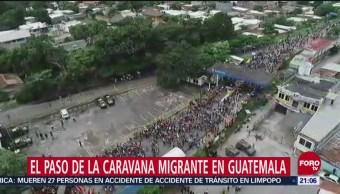 Crónica Paso Caravana Migrante Guatemala Frontera