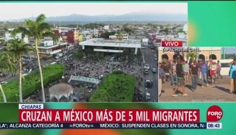 Cruzan a México más de 5 mil migrantes