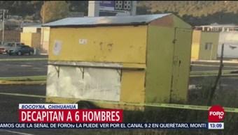 Decapitan a 6 hombres en Bocoyna, Chihuahua