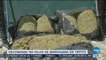 Decomisan 150 Kilos Marihuana Tepito Barrio De Tepito Unidad Habitacional