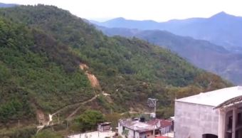Lluvias provocan derrumbe de cerro en Oaxaca