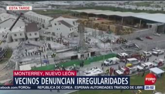 Derrumbe Construcción Monterrey Nuevo León Siete Muertos