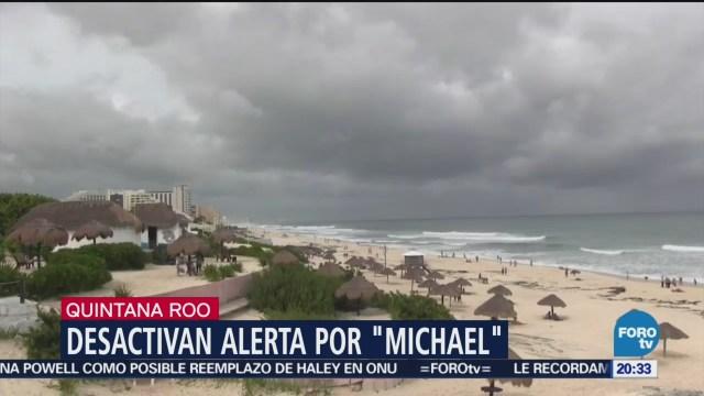 Desactivan Alerta Amarilla Huracán Michael Quintana Roo