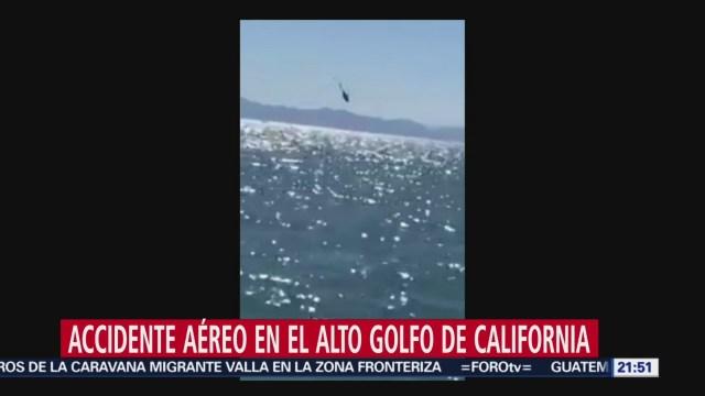 Desploma Helicóptero Marina Secretaría De Marina Aeronave Armada De México Golfo De Santa Clara Alto Golfo De California Sonora