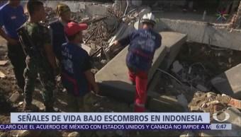 Detectan signos de vida bajo escombros de hotel en Palu