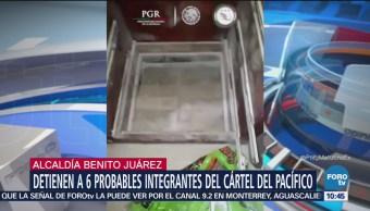 Detienen a célula del Cártel del Pacífico en alcaldía Benito