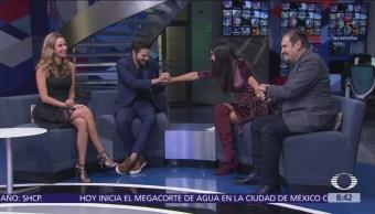 Diego Luna y Joaquín Cosío hablan del estreno de la serie 'Narcos'