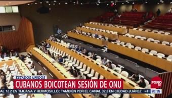 Diplomáticos Cubanos Boicotean Sesión ONU Estados Unidos Sesión