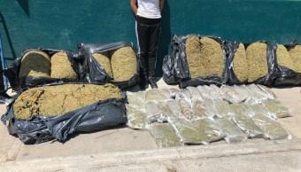 Decomisan 150 kilos de marihuana en edificio de Tepito