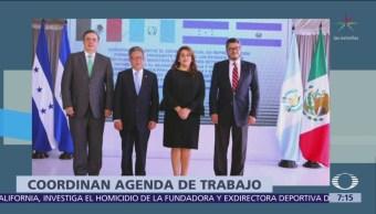 Ebrard se reúne con funcionarios de El Salvador, Honduras y Guatemala