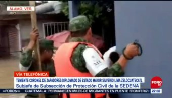 Ejército Despliega Plan Dn-Iii Álamo, Veracruz, Por Inundaciones