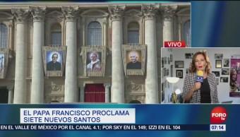 El papa Francisco proclama siete nuevos santos