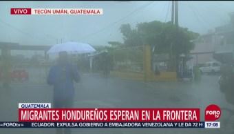 El paso fronterizo de Tecún Umán, alerta por caravana de migrantes