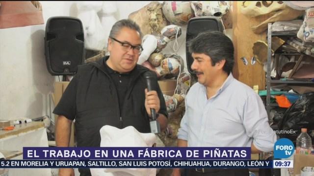 El trabajo en una fábrica de piñatas