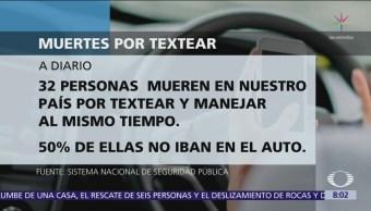 diario mueren 32 personas por textear mientras manejan
