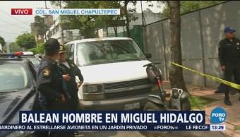 Encuentran a hombre baleado en San Miguel Chapultepec, CDMX