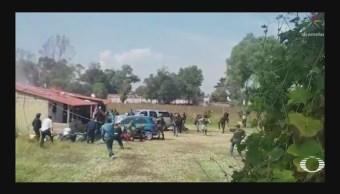 Enfrentamiento Texcoco Célula CJNG Muertos Edomex