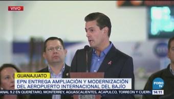 EPN entrega ampliación del aeropuerto de Guanajuato