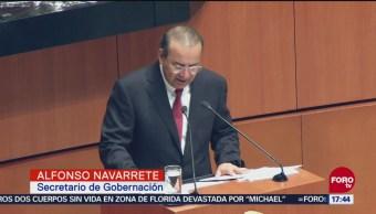 EPN no deja crisis económicas ni de seguridad: Navarrete Prida