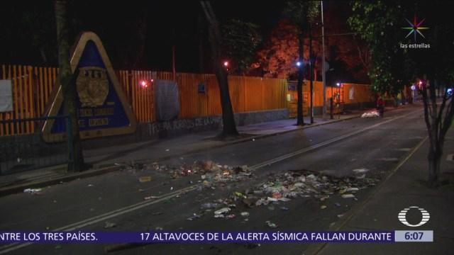 Estudiantes del CCH Azcapotzalco realizan paro total