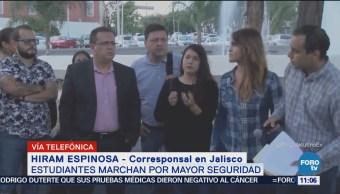 Estudiantes marchan en Jalisco, exigen mayor seguridad