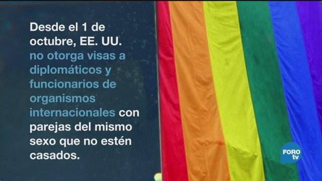 Eu Frena Visas Parejas Diplomáticos LGBT EU
