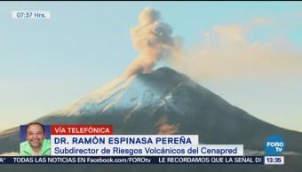 Explican actividad del volcán Popocatépetl