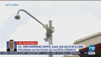 Fallan 17 sistemas de la red de altavoces de alerta sísmica