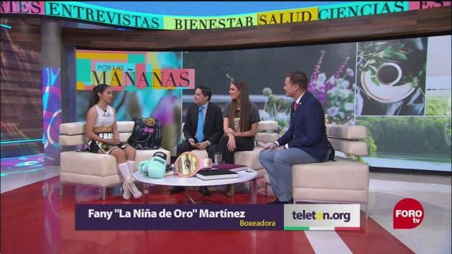 Fany 'La Niña de Oro' Martínez apoyará a la Fundación Teletón