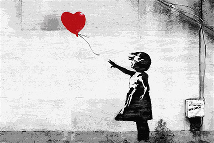 Banksy intentó destruir una obra subastada en Londres