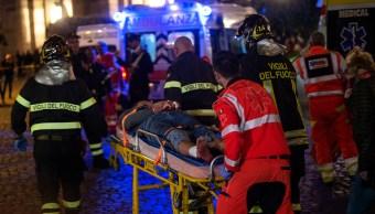 Falla en escalera del metro en Roma deja 20 lesionados