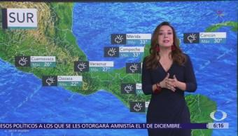 Frente frío ocasionará lluvias en Puebla y Veracruz