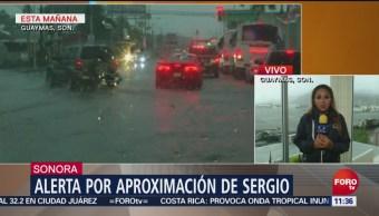 Guaymas se prepara para la llegada de la tormenta Sergio
