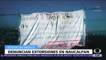 Habitantes de Colinas de San Mateo, Naucalpan, denuncian extorsiones