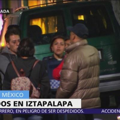 Hallan tres hombres heridos de bala en Iztapalapa; dos de ellos mueren