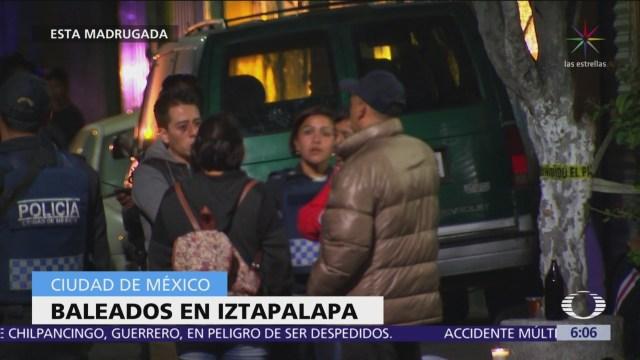 Hallan tres hombres heridos de bala en Iztapalapa