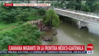 Hondureños Usan Balsas Improvisadas Llegar A México