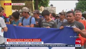 Ingresa primer grupo de migrantes a México