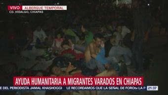 Instalan Albergue Migrantes Hondureños Chiapas