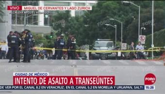 Intento de asalto en Polanco, CDMX
